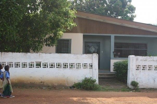 A 2010 photo of the Gaye Town, Monrovia house Maya and her family lived in, their second home in Liberia.