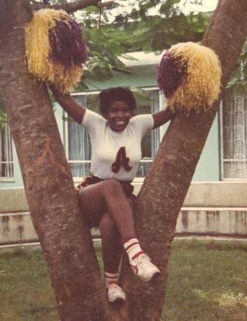 A 1980-81 American Cooperative School yearbook photo of a teenage Maya in Monrovia, Liberia.