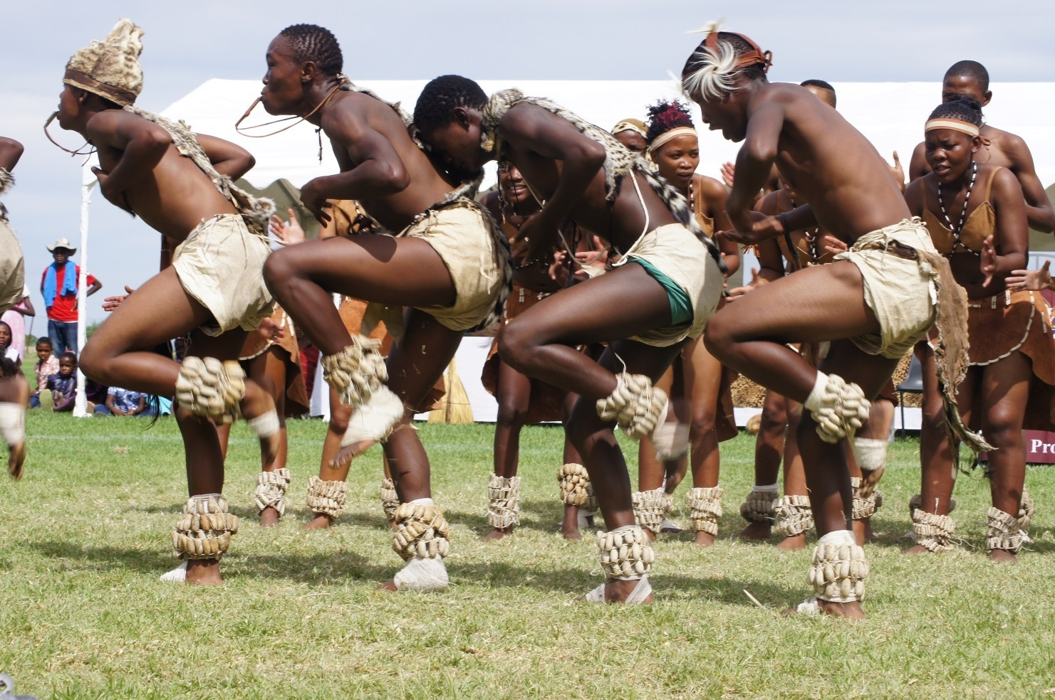 The Tswana Cultural Group performing at a national cultural festival in Grootfontein, Namibia.