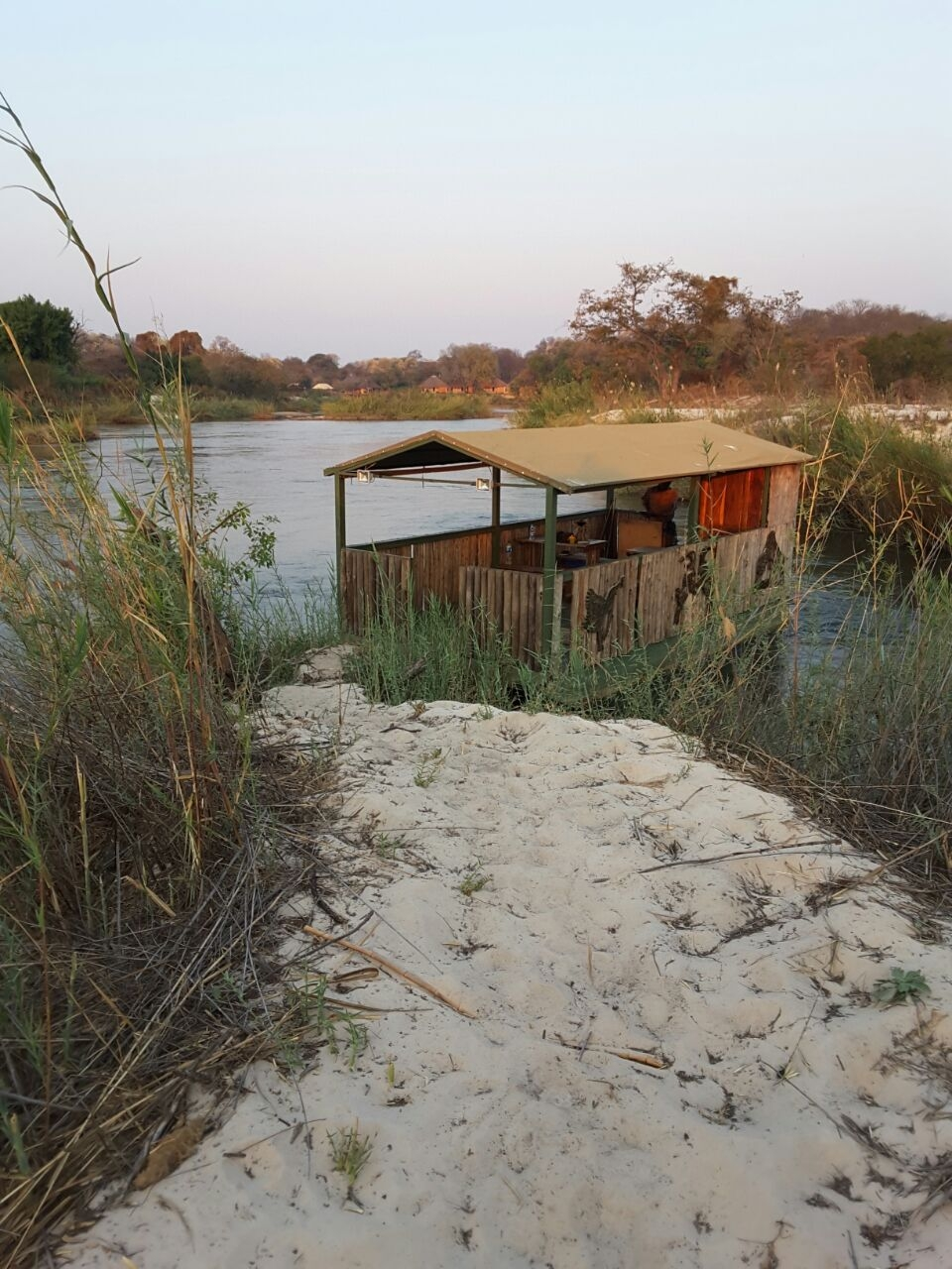 The boat that took me along Namibia's Kavango River.