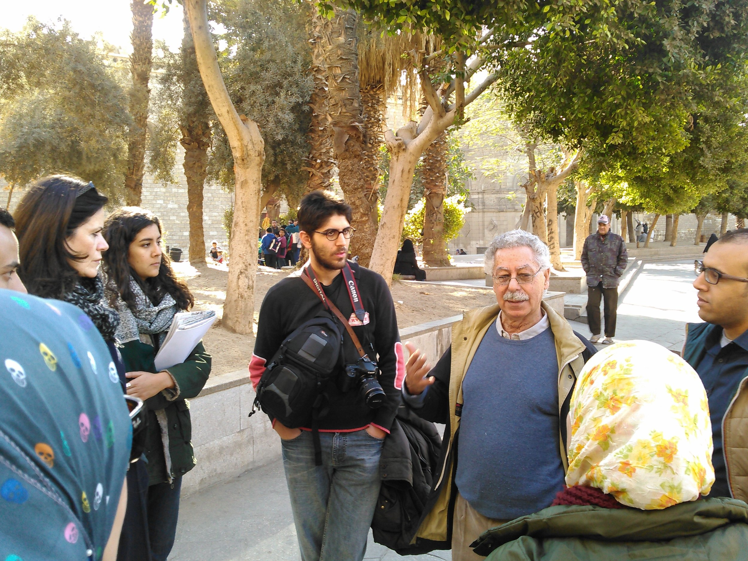 Dr. Fekri Hassan (in blue sweater) and other members of our tour group.