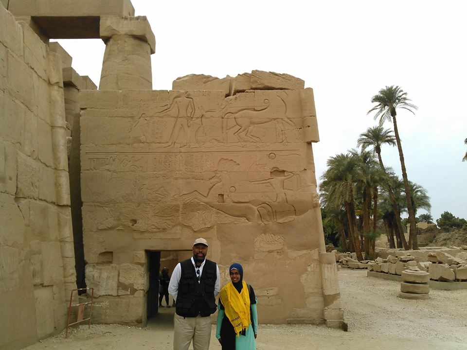 Here I am with Mona, one of my many brilliant Egyptian tour guides.