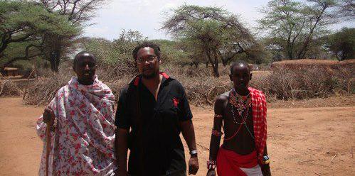 Brian on a sustainable livelihoods visit, working with Masai in Nanyuki, Kenya.