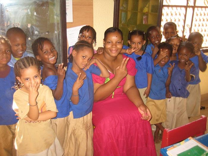 Tecie with her Kindergartin Class 2013 2014 school year.jpg