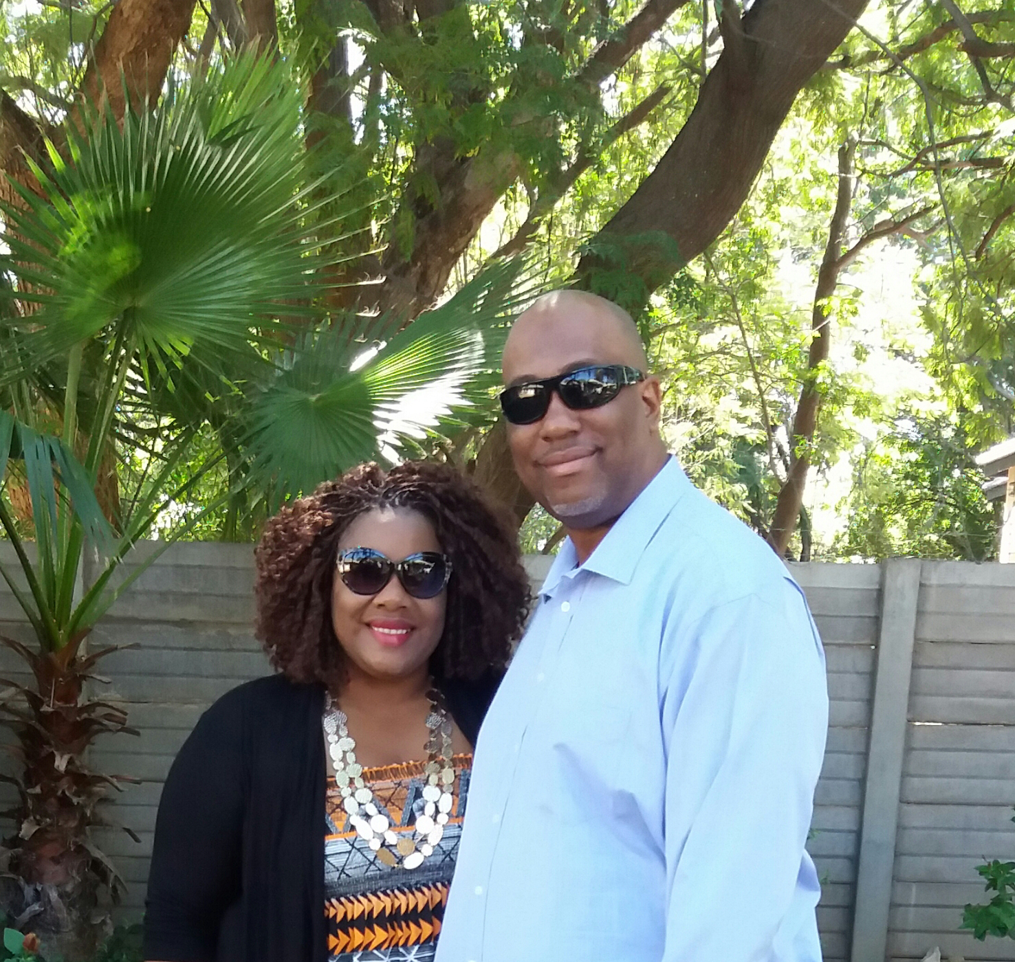Paula Brown and her husband pictured above chose to relocate to Francistown, Botswana after a visit to the capital city.
