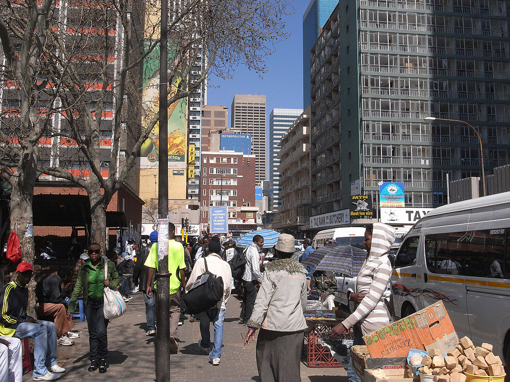 Downtown Johannesburg Credit: Jorge Láscar , Downtown Johannesburg , CC BY-SA 2.0