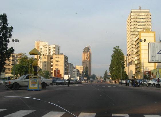 Downtown Kinshasa Credit:  Wikimedia