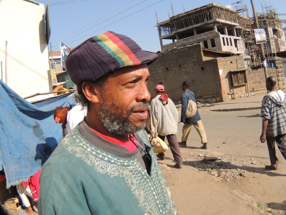 Timothy Green, a Rastafarian poet, teacher, and expat of over ten years in Addis Ababa, Ethiopia.