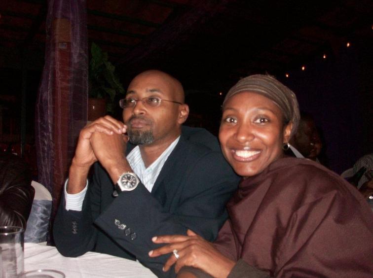Pamela Mohamed and her husband pictured above.