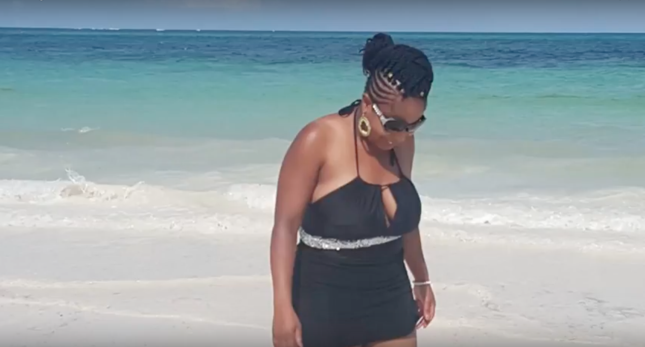 Preshay on the shores of Mombasa, Kenya