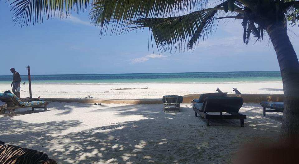 An Indian Ocean beach near Preshay's home in Mombasa, Kenya.