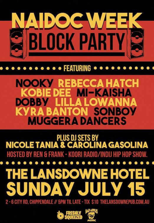 NAIDOC WEEK BLOCK PARTY