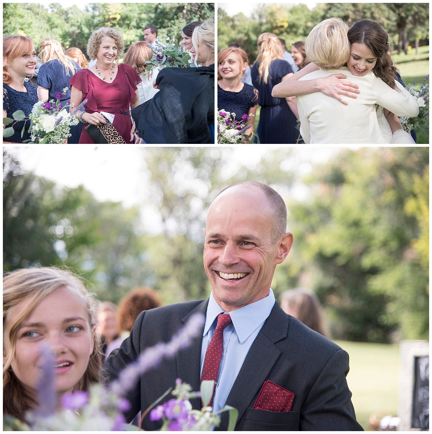 Smiling Father of the Bride | Bethany and Jono's Intimate DIY Wedding | Colorado Springs Wedding Photographer | Farm Wedding Photographer | Apollo Fields Wedding Photojournalism