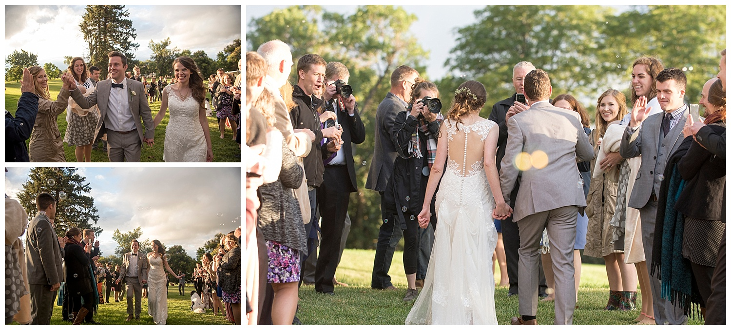 Bride and Groom Epic Exit | Bethany and Jono's Intimate DIY Wedding | Colorado Springs Wedding Photographer | Farm Wedding Photographer | Apollo Fields Wedding Photojournalism