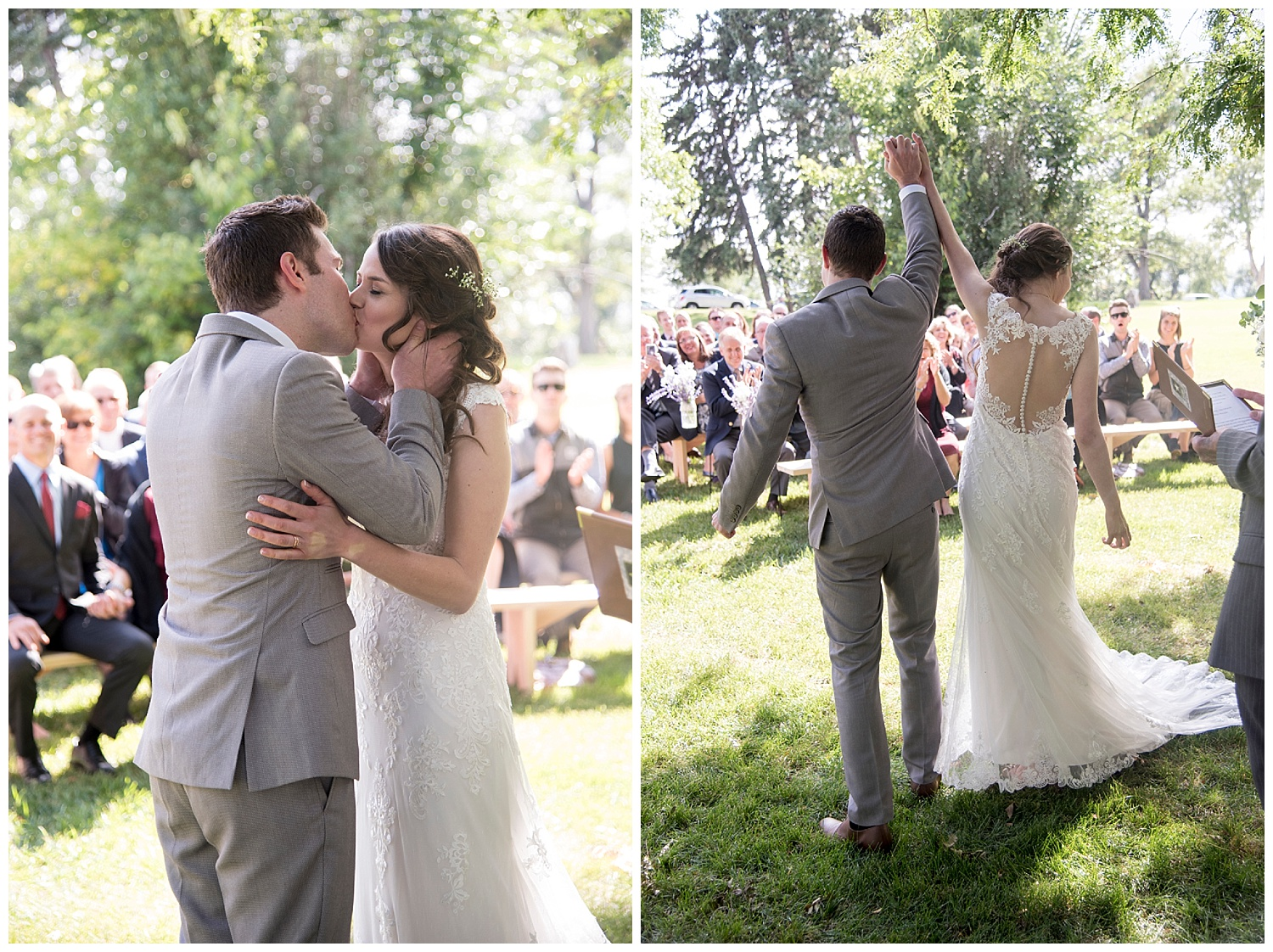 Adorable Bride and Groom Kissing | Bethany and Jono's Intimate DIY Wedding | Colorado Springs Wedding Photographer | Farm Wedding Photographer | Apollo Fields Wedding Photojournalism