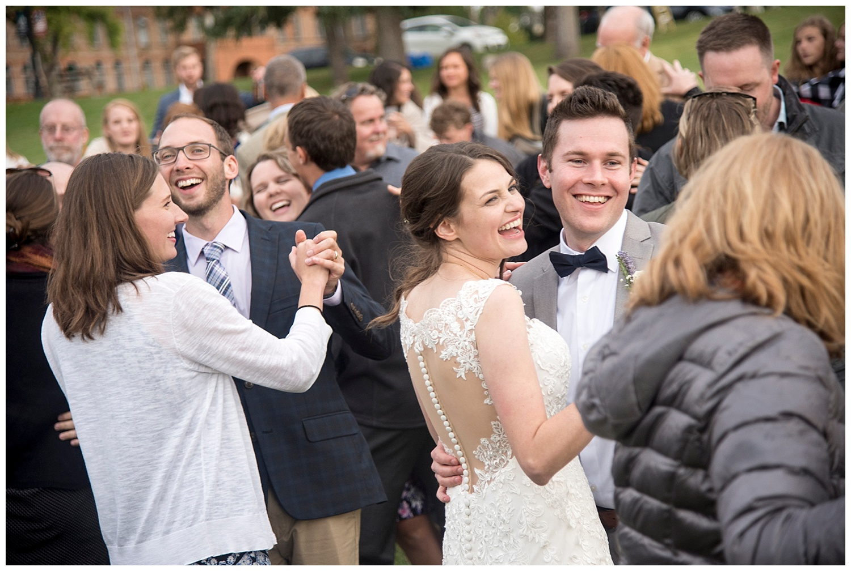 DIY Bride and Groom Smiling   Bethany and Jono's Intimate DIY Wedding   Colorado Springs Wedding Photographer   Farm Wedding Photographer   Apollo Fields Wedding Photojournalism