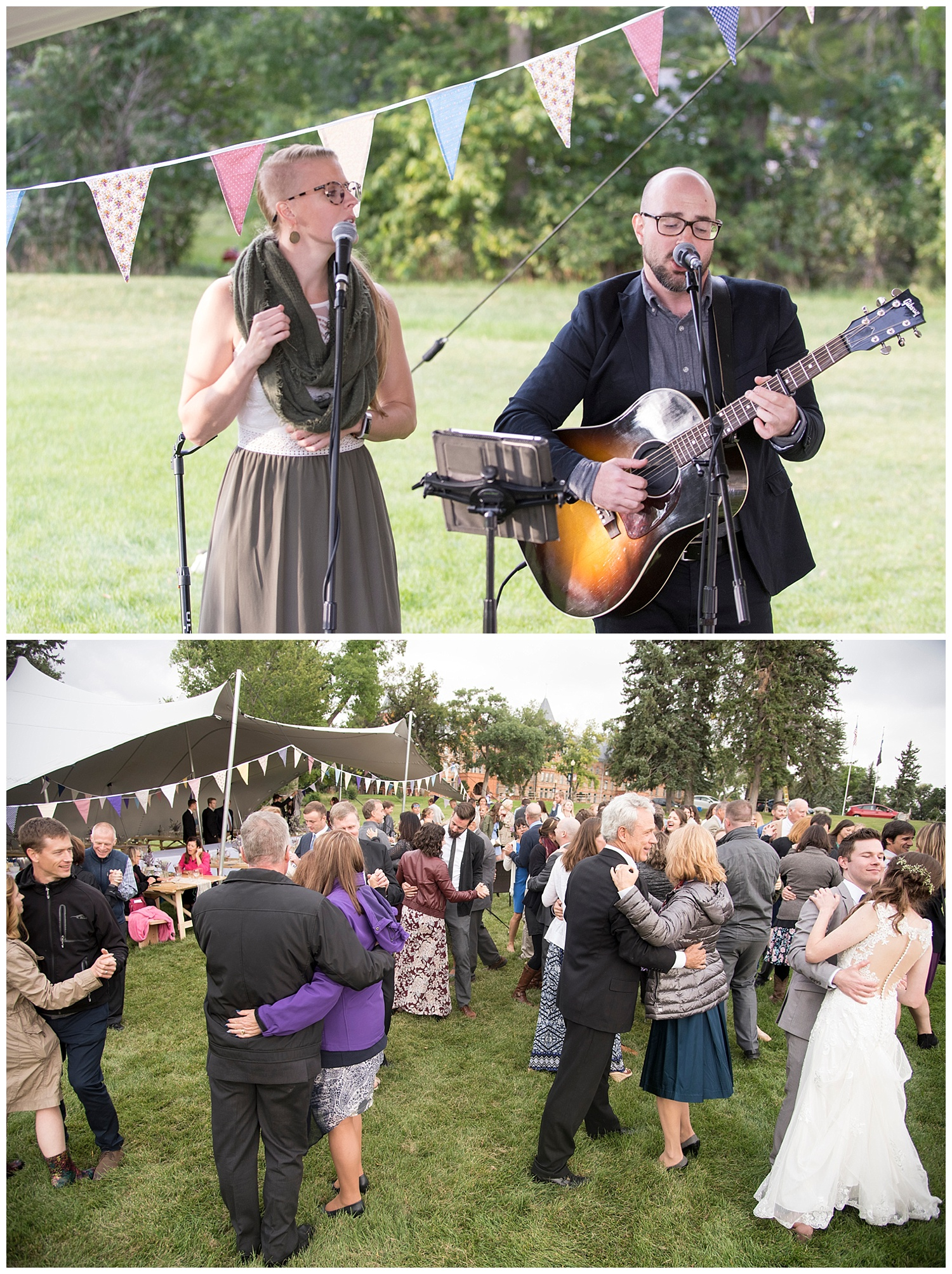 Live Music and Dancing in the Grass | Bethany and Jono's Intimate DIY Wedding | Colorado Springs Wedding Photographer | Farm Wedding Photographer | Apollo Fields Wedding Photojournalism