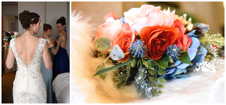 Bride and Bouquet | Intimate Wedding Photographer | Chateau de Frontenac | Quebec City Wedding Photographer | Farm Wedding Photographer | Apollo Fields Wedding Photojournalism