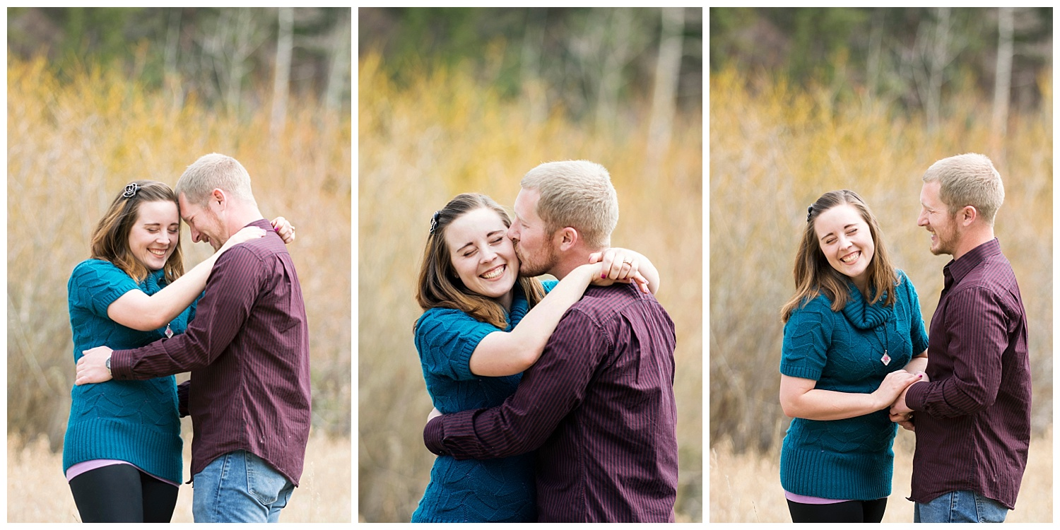 Couple Laughing | Mountain Engagement Photography | Golden Colorado Wedding Photographer | Farm Wedding Photographer | Apollo Fields Wedding Photojournalism