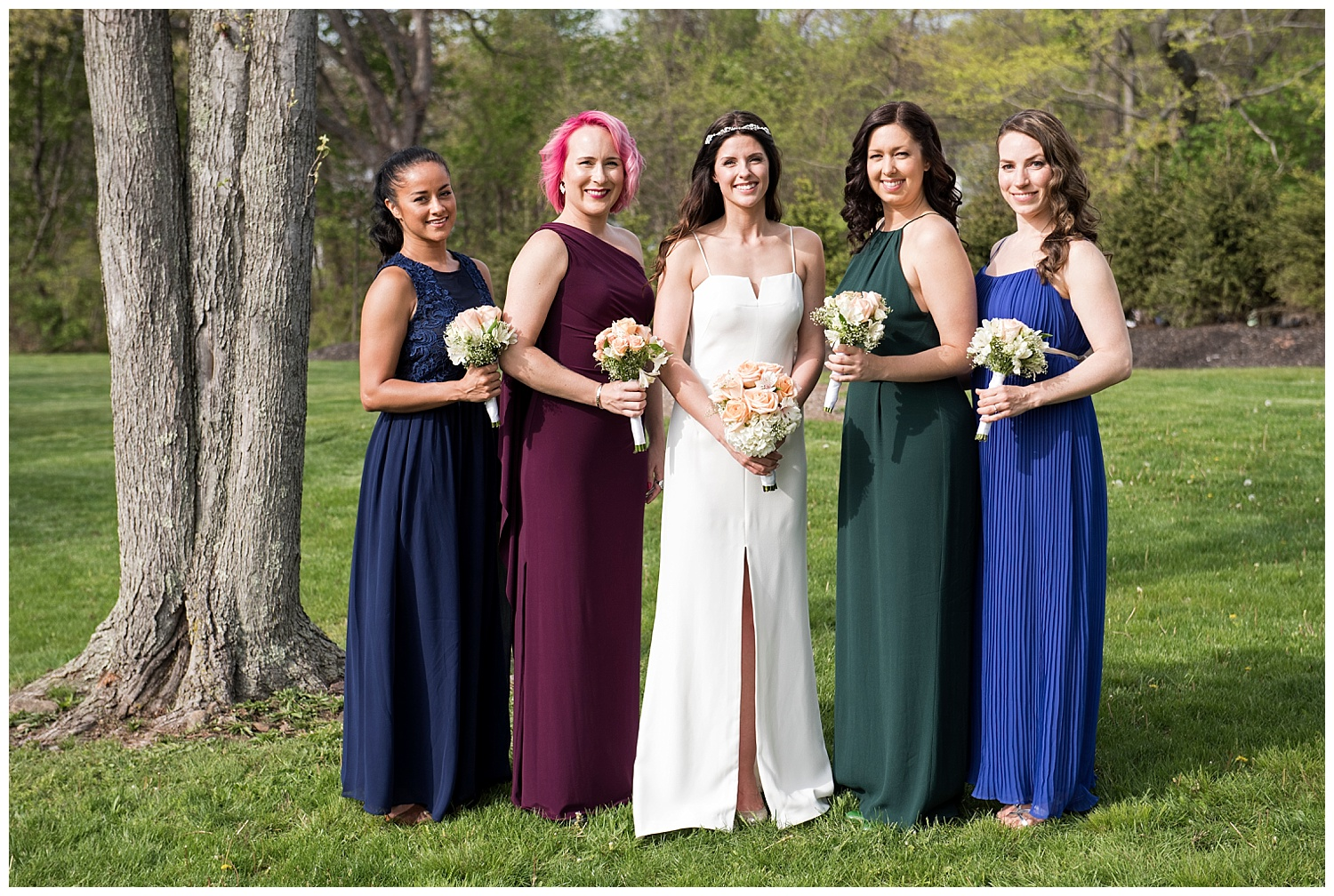 Beautiful Bridesmaids Photograph | Intimate Wedding Photographer | New York State Wedding Photographer | Farm Wedding Photographer | Apollo Fields Wedding Photojournalism