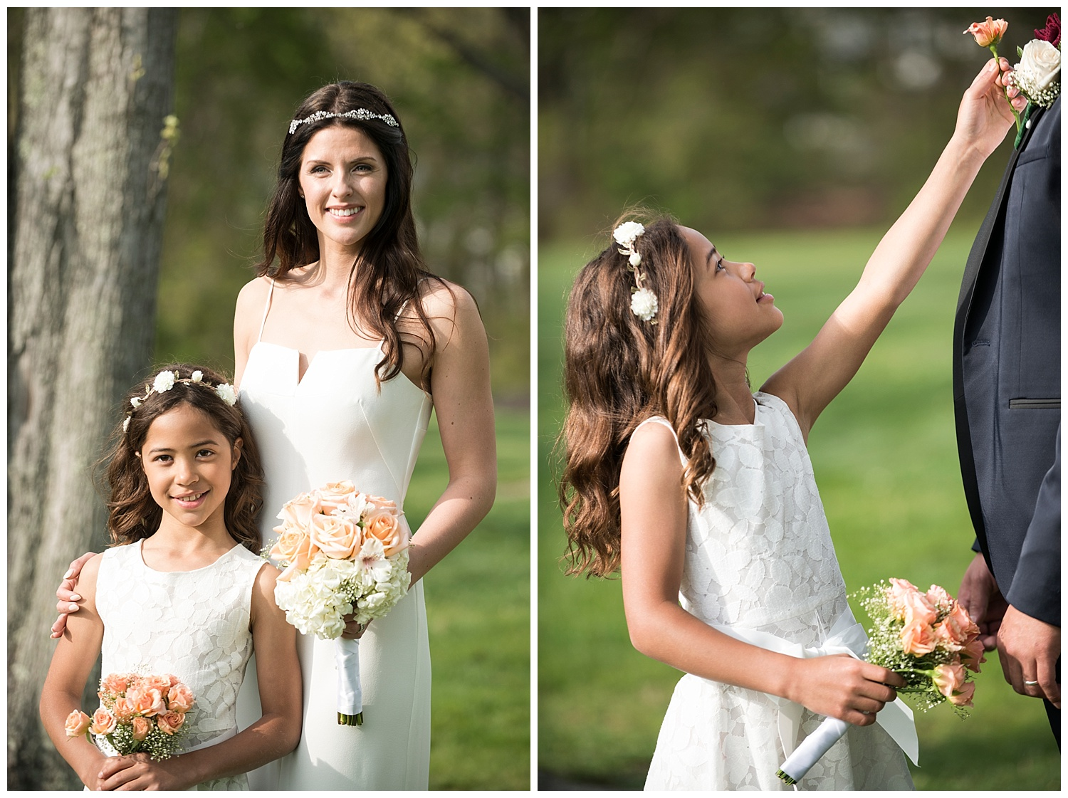 Beautiful Bride & Daughter | Intimate Wedding Photographer | New York State Wedding Photographer | Farm Wedding Photographer | Apollo Fields Wedding Photojournalism