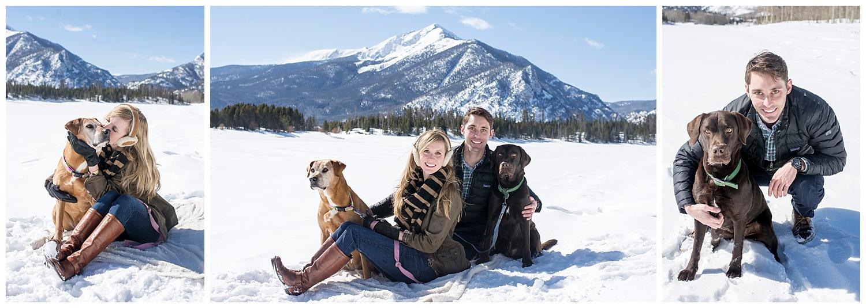 Couple Cuddling in the Snow | Lake Dillon Colorado Engagement Photographer | Farm Wedding Photographer | Apollo Fields Wedding Photojournalism