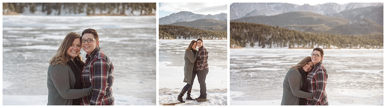 Young Couple Embracing and Kissing | Jenny and Tara's Epic Mountain Engagement Session | Pikes Peak, Colorado Photography | Farm Wedding Photographer | Apollo Fields Wedding Photojournalism