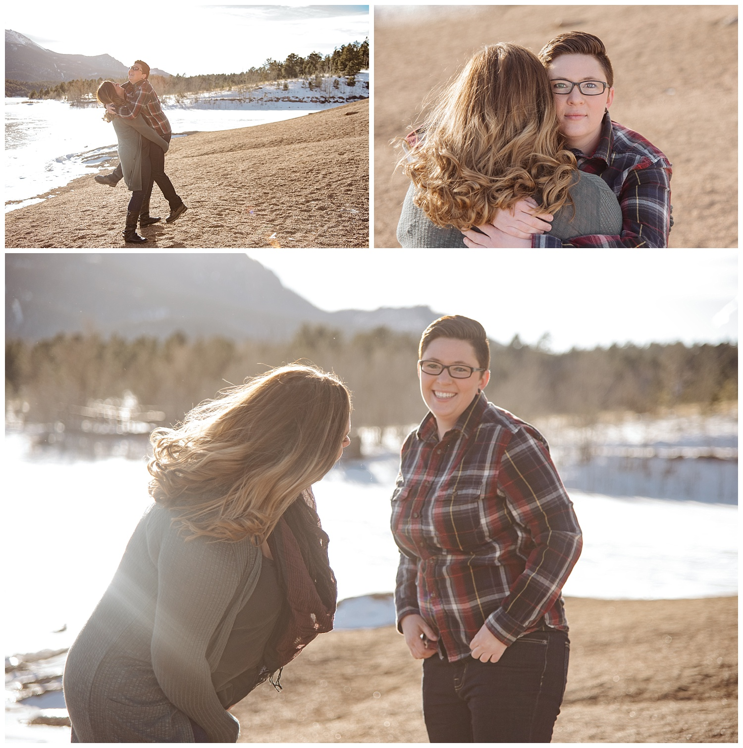 Young Family Goofing Around | Jenny and Tara's Epic Mountain Engagement Session | Pikes Peak, Colorado Photography | Farm Wedding Photographer | Apollo Fields Wedding Photojournalism