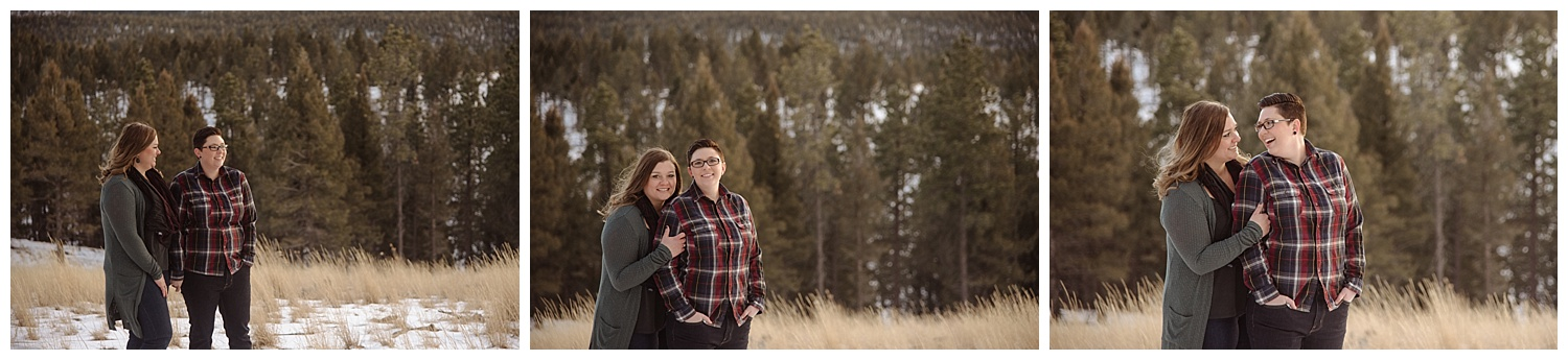 Young Lesbian Couple Embracing | Jenny and Tara's Epic Mountain Engagement Session | Pikes Peak, Colorado Photography | Farm Wedding Photographer | Apollo Fields Wedding Photojournalism