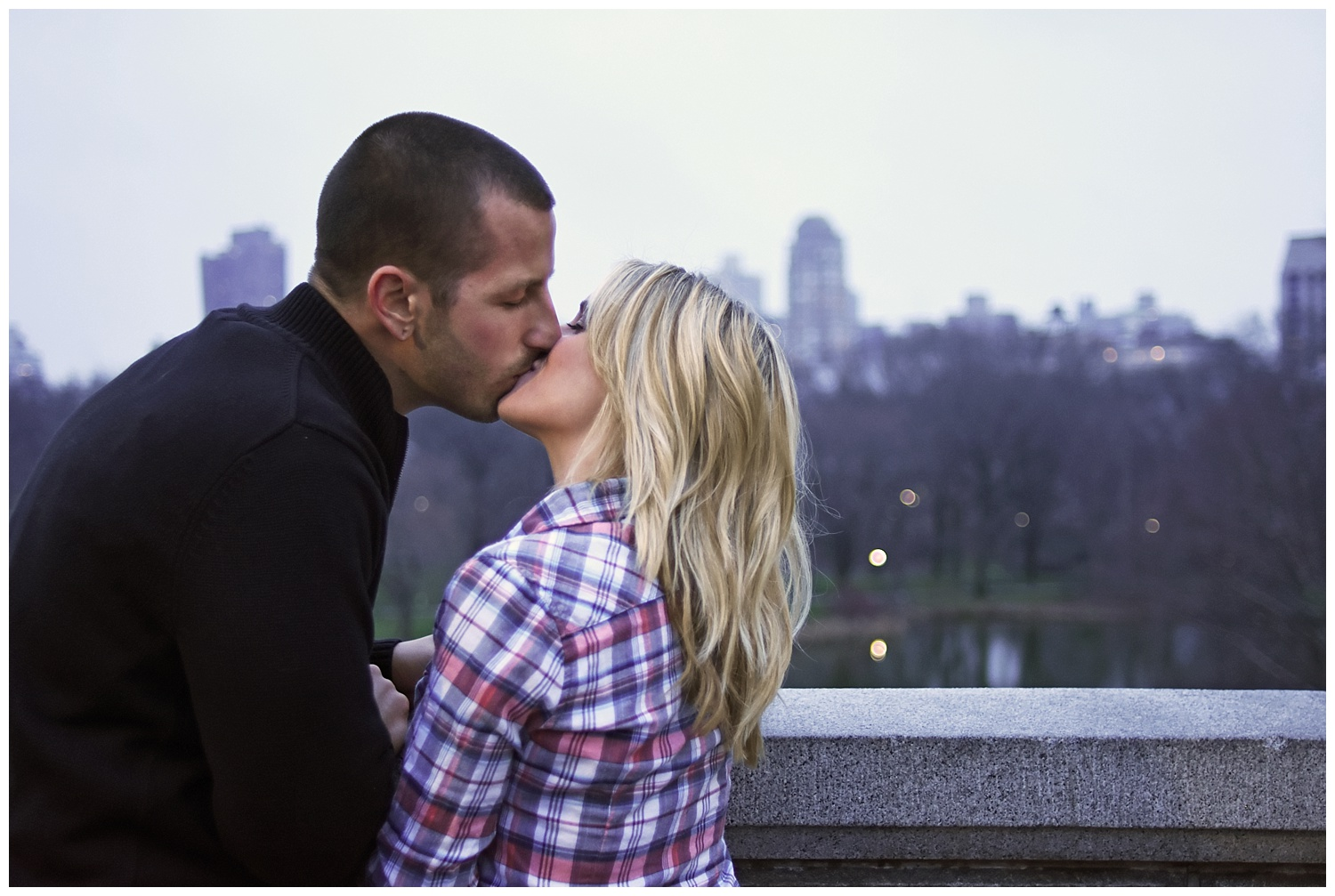 Couple Kissing | Central Park Engagement Photographer | Bethesda Fountain Wedding Photographer | Farm Wedding Photographer | Apollo Fields Wedding Photojournalism