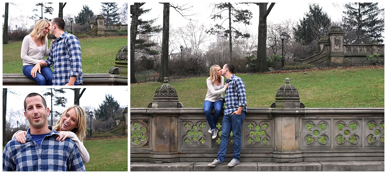Man Kissing Woman | Central Park Engagement Photographer | Bethesda Fountain Wedding Photographer | Farm Wedding Photographer | Apollo Fields Wedding Photojournalism