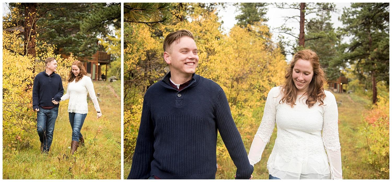 Mountain Engagement Walking in Woods | Don & Aliyah's Mountain Engagement Photography | Farm Wedding Photographer | Apollo Fields Wedding Wedding Photojournalism