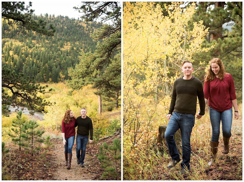 Walking in the Woods Mountain Engagement Photography | Don & Aliyah's Mountain Engagement Photography | Farm Wedding Photographer | Apollo Fields Wedding Wedding Photojournalism
