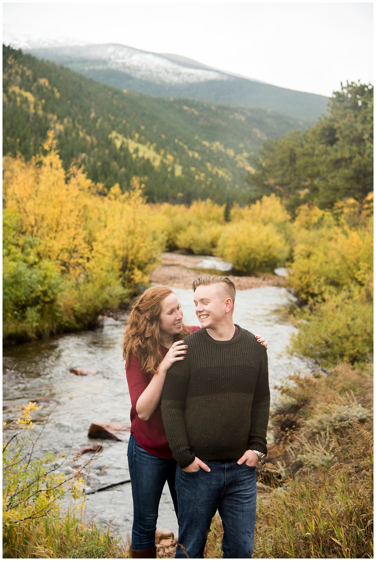 Kissing in Front of Lake | Don & Aliyah's Mountain Engagement Photography | Farm Wedding Photographer | Apollo Fields Wedding Wedding Photojournalism