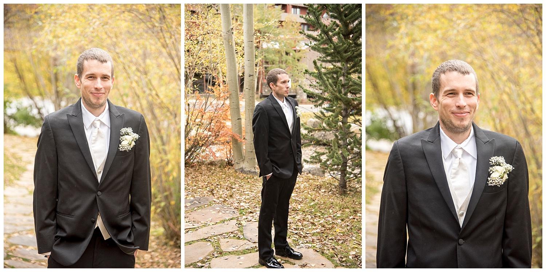 Groom Waiting For First Look | Chris & Destiny's Destination Wedding | Breckenridge Wedding Photographer | Colorado Farm Wedding Photographer | Apollo Fields Wedding Photojournalism
