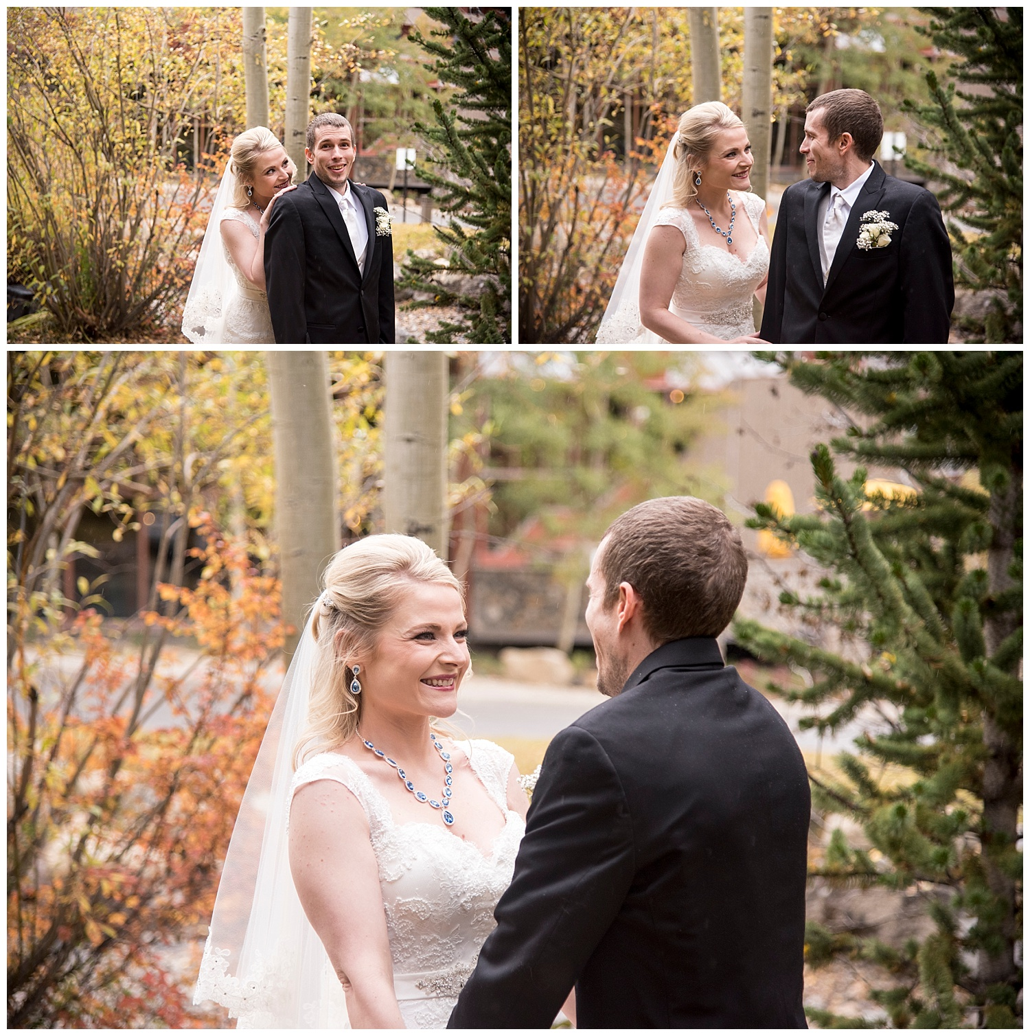 Bride & Groom in Woods | Chris & Destiny's Destination Wedding | Breckenridge Wedding Photographer | Colorado Farm Wedding Photographer | Apollo Fields Wedding Photojournalism