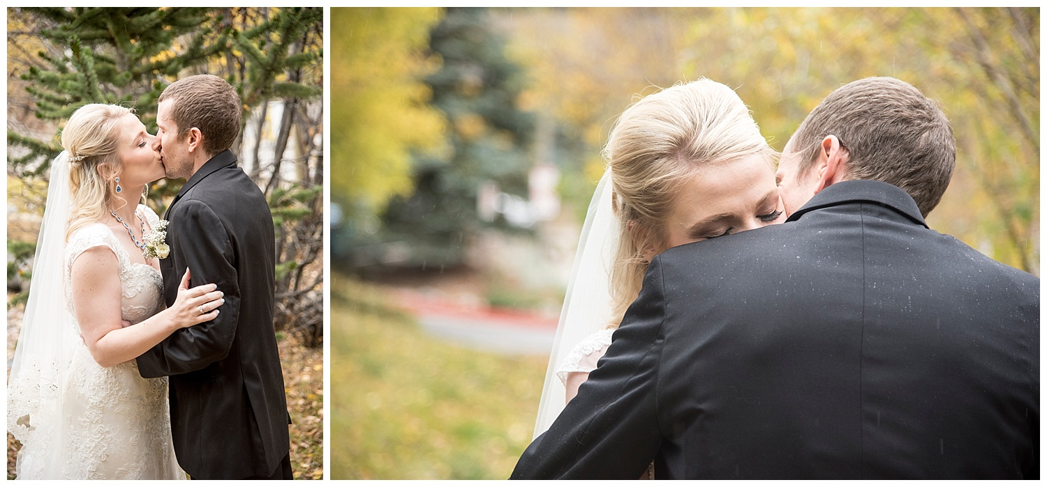 Bride & Groom Embracing | Chris & Destiny's Destination Wedding | Breckenridge Wedding Photographer | Colorado Farm Wedding Photographer | Apollo Fields Wedding Photojournalism