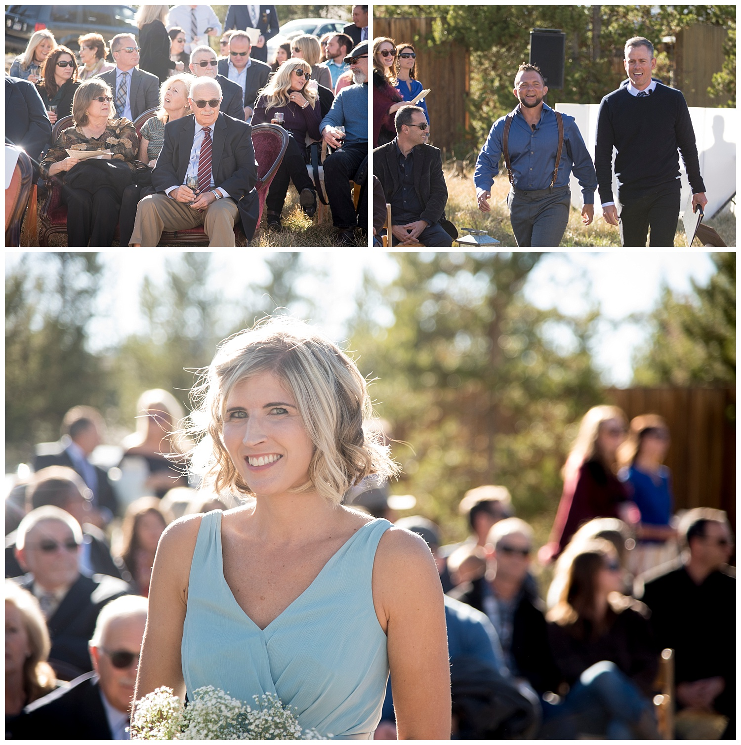 Candid Photos of Guests at Ceremony | Carolyn and Shawn's Wild Horse Inn Wedding at Devil's Thumb Ranch | Fraser Colorado Photography | Farm Wedding Photographer | Apollo Fields Photojournalism