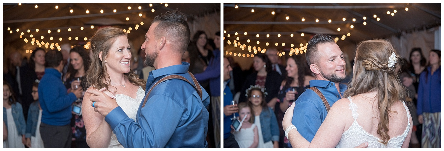 Real Couple's First Dance | Carolyn and Shawn's Wild Horse Inn Wedding at Devil's Thumb Ranch | Fraser Colorado Photography | Farm Wedding Photographer | Apollo Fields Wedding Photojournalism