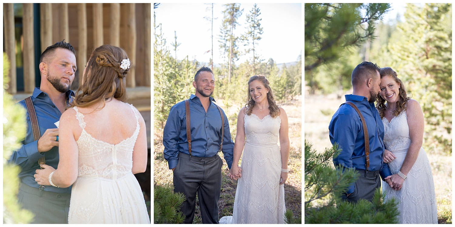 Bride and Groom Intimate Photography | Carolyn and Shawn's Wild Horse Inn Wedding at Devil's Thumb Ranch | Fraser Colorado Photography | Farm Wedding Photographer | Apollo Fields Photojournalism