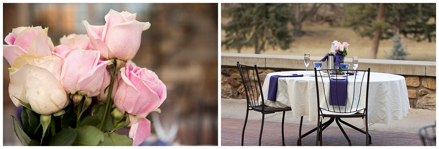 Close Up Pink Tulips and Romantic Table Setting | Nicholas and Eden's Surprise Engagement | Glen Eyrie Castle Colorado Photography | Farm Wedding Photographer | Apollo Fields Wedding Photojournalism