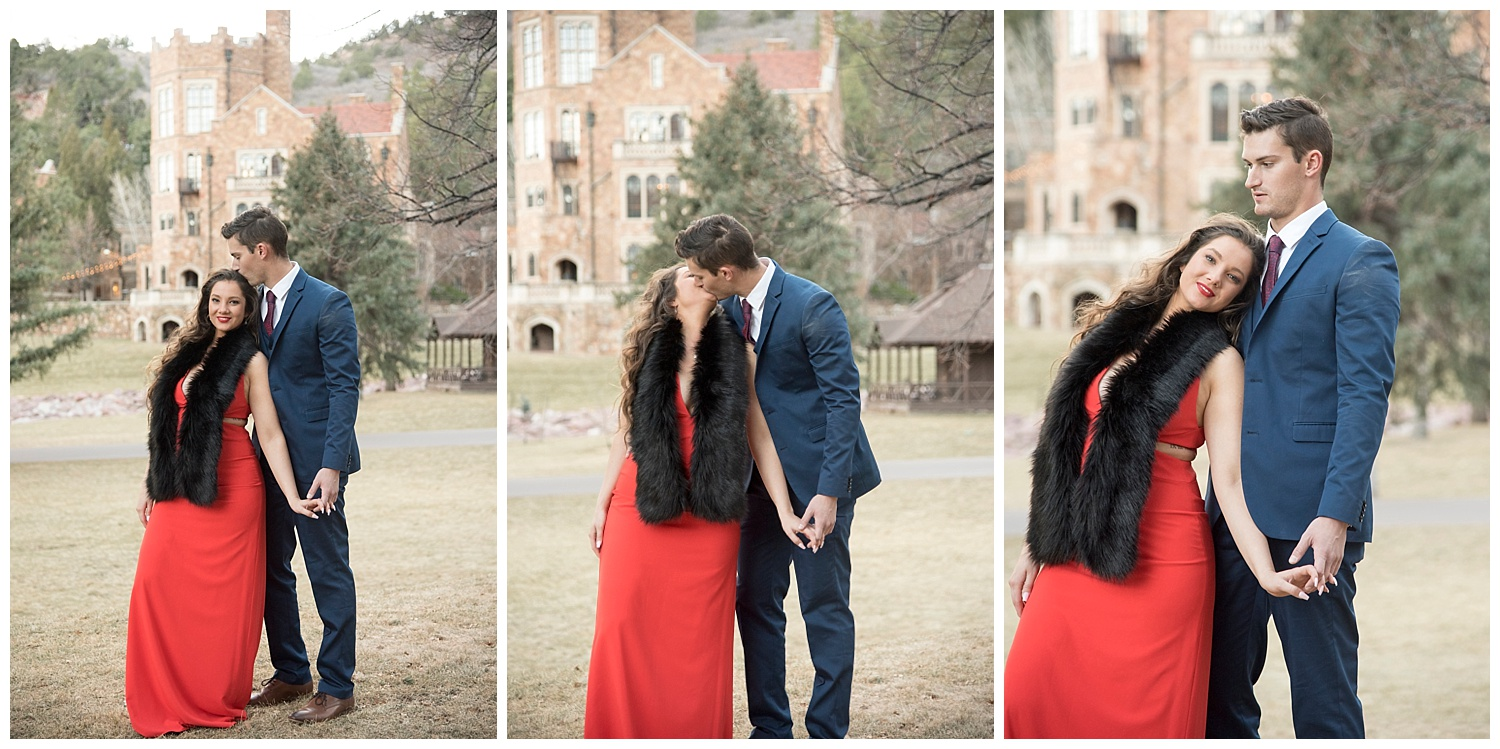 Real Couple Cuddling| Nicholas and Eden's Surprise Proposal at Glen Eyrie Castle | Colorado Springs Photographer | Farm Wedding Photographer | Apollo Fields Wedding Photojournalism