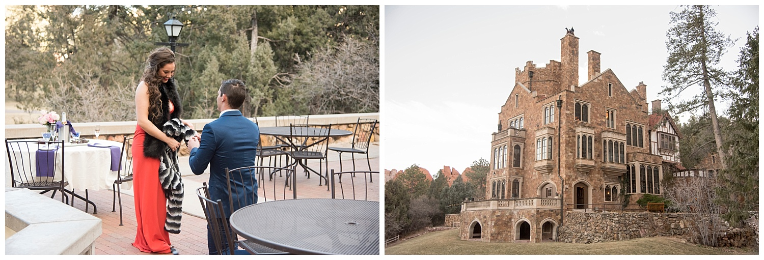 Man on One Knee | | Nicholas and Eden's Surprise Proposal at Glen Eyrie Castle | Colorado Springs Photographer | Farm Wedding Photographer | Apollo Fields Wedding Photojournalism