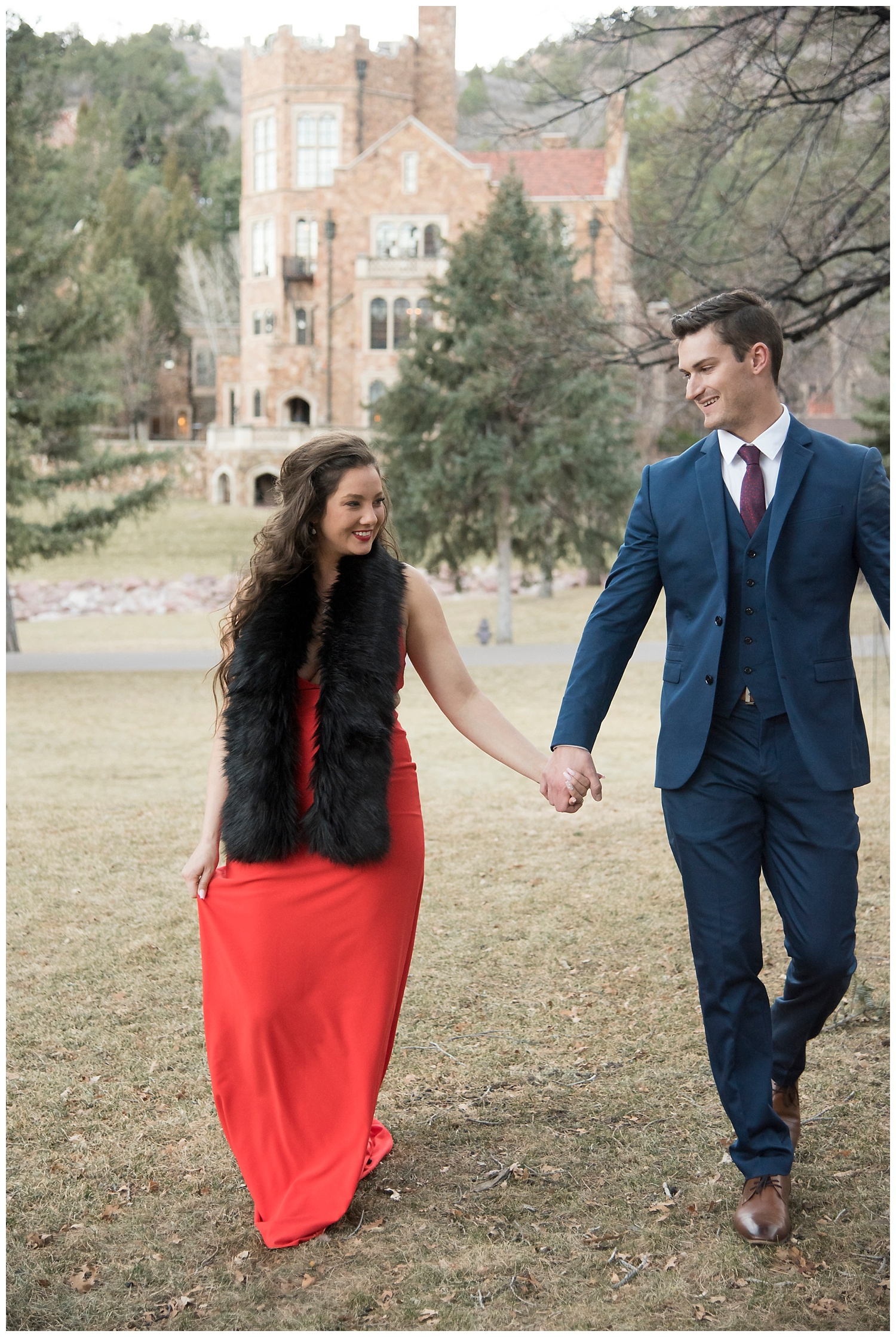 Real Couple Holding Hands| Nicholas and Eden's Surprise Proposal at Glen Eyrie Castle | Colorado Springs Photographer | Farm Wedding Photographer | Apollo Fields Wedding Photojournalism