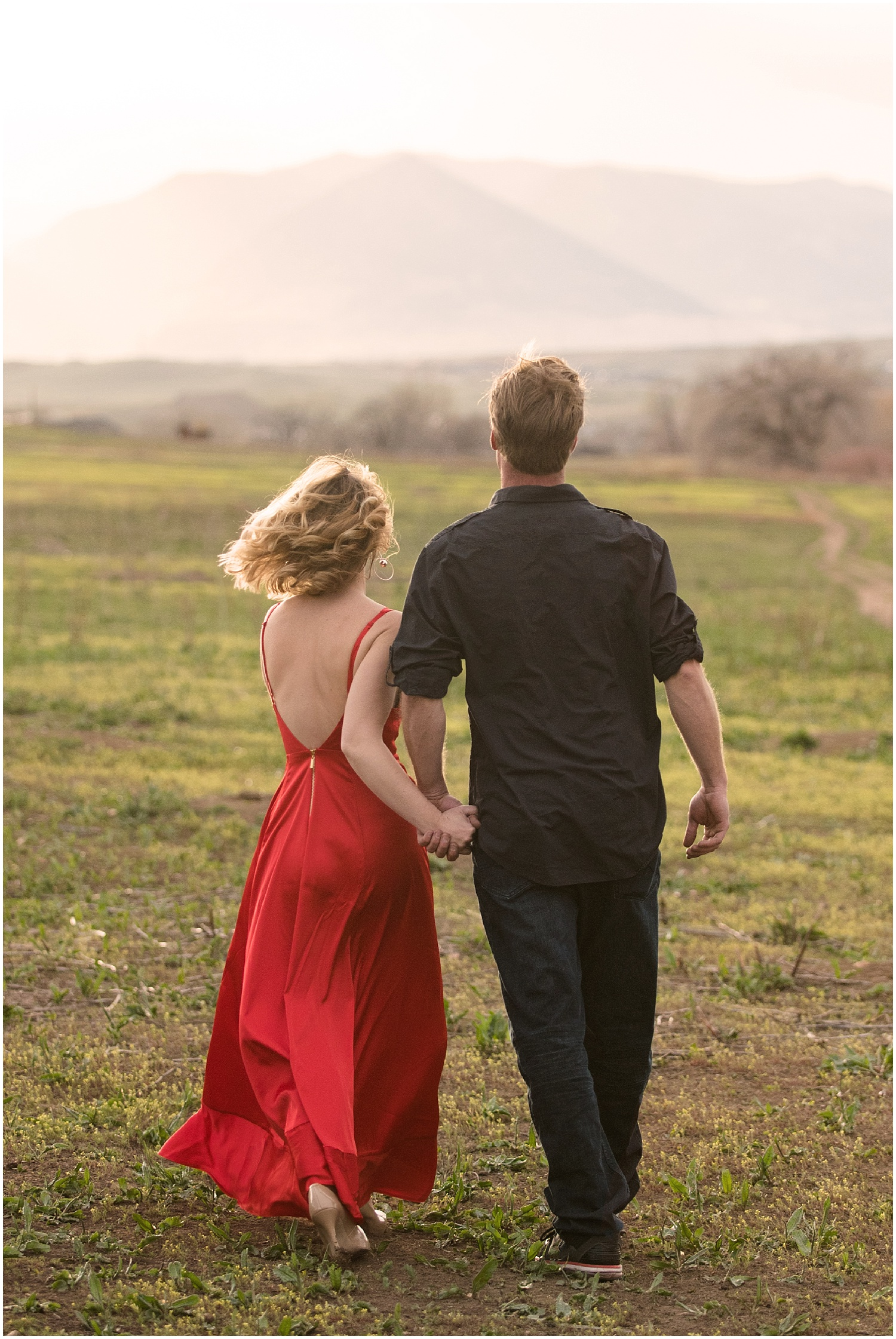 Man & Woman Walking | Dirt Bike Engagement Session | Colorado Adventure Engagement Photographer | Rocky Mountain Elopement Photography | Farm Wedding Photographer | Apollo Fields Photojournalism
