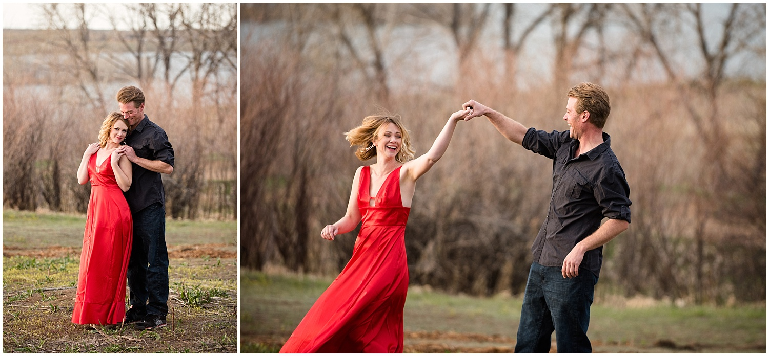 Man & Woman Dancing | Dirt Bike Engagement Session | Colorado Adventure Engagement Photographer | Rocky Mountain Elopement Photography | Farm Wedding Photographer | Apollo Fields Photojournalism