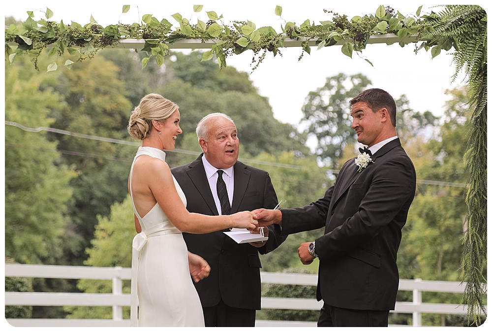 Bride Groom Vows Upstate New York Farm Wedding