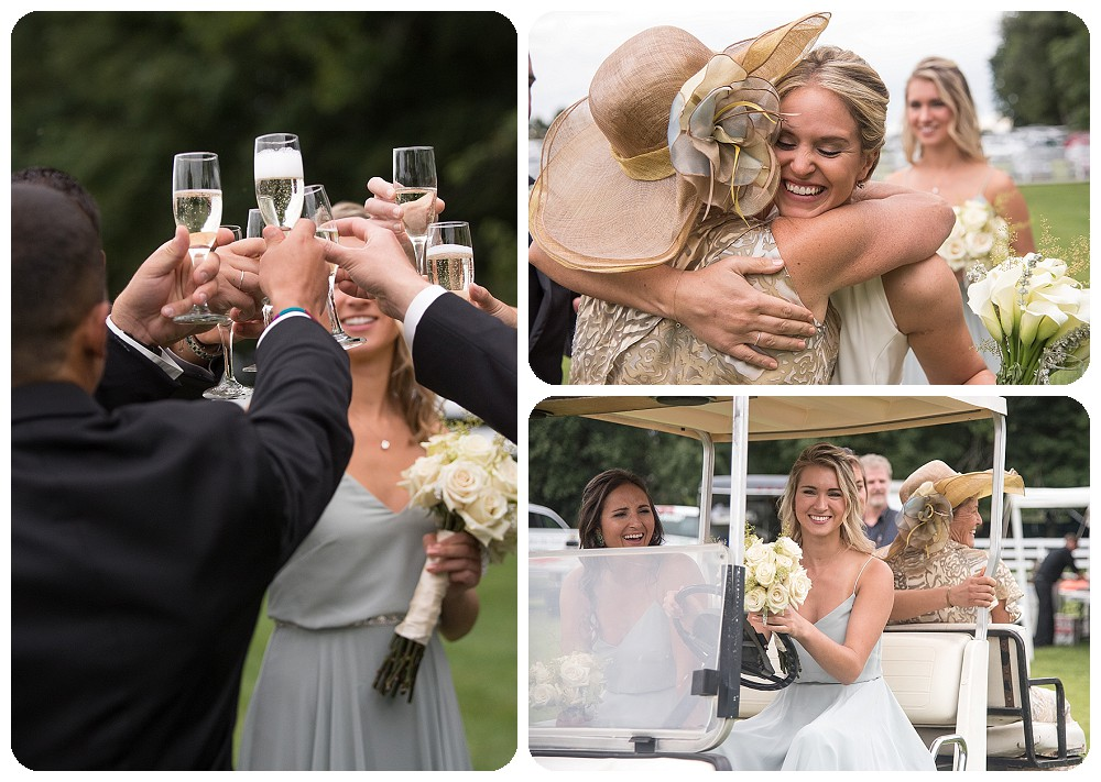 Champagne Toast Wedding Catskills NY Upstate New York Farm Wedding