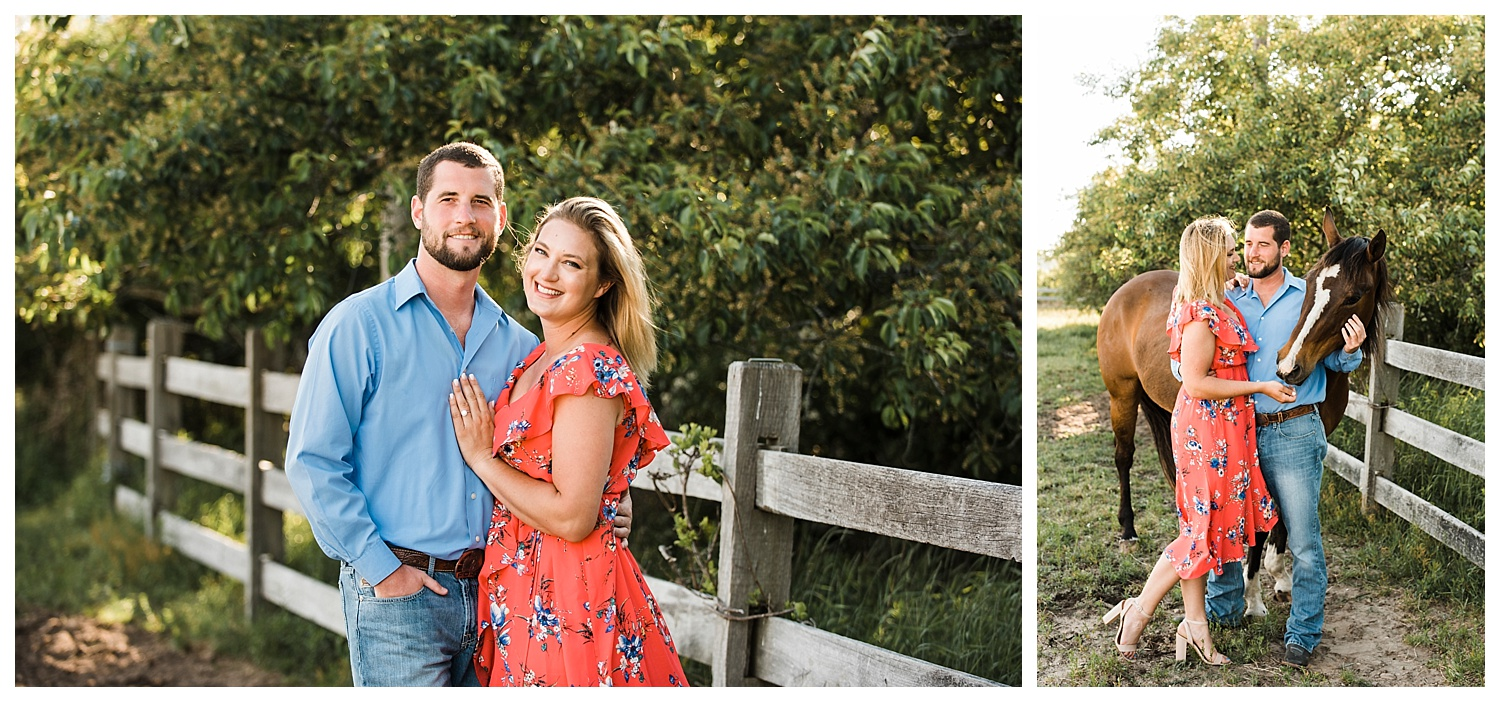 Apollo Fields Montauk Engagement Photos with Horses