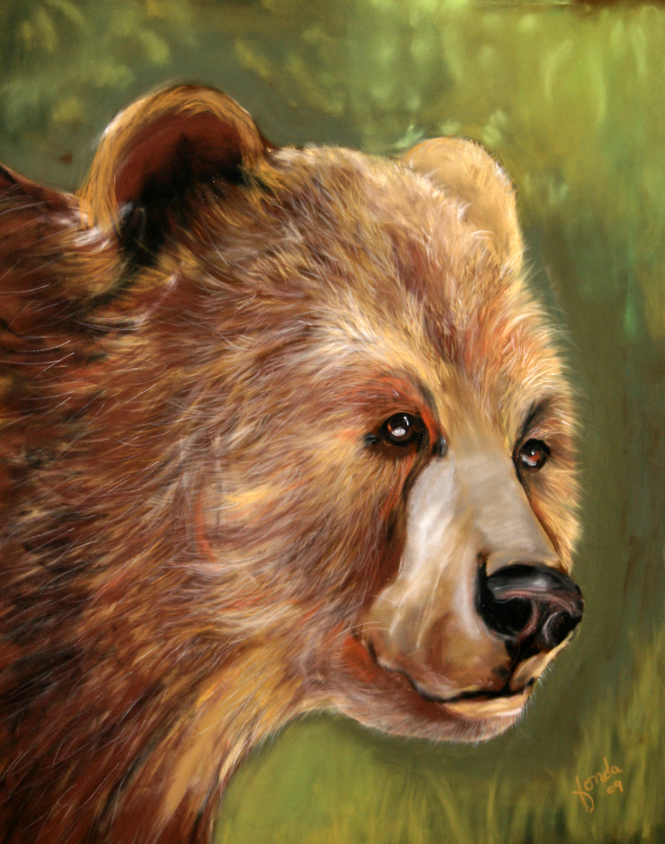Fonda Haight - bear on green.jpg